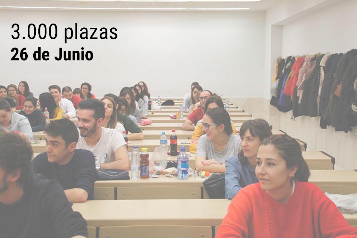 El primer examen de las oposiciones a 3.000 plazas de maestro de Infantil y Primaria será el 26 de junio