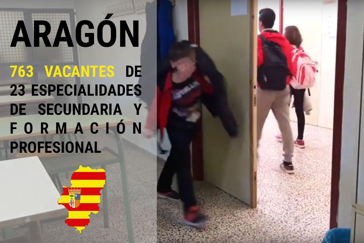 Aragón: 763 vacantes de 23 especialidades de secundaria y Formación Profesional