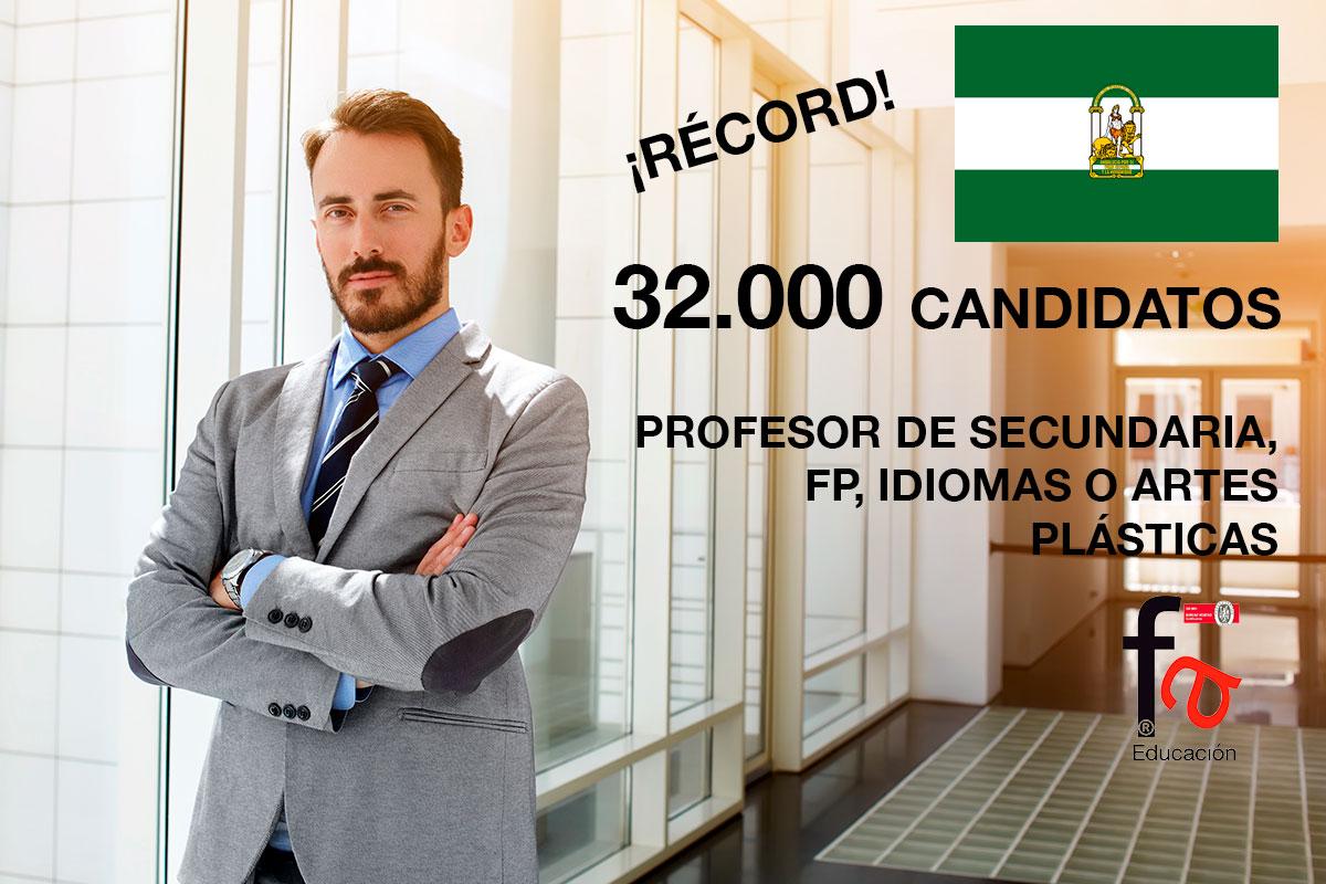 Récord de opositores en Andalucía, 32.000 candidatos en busca de una plaza docente