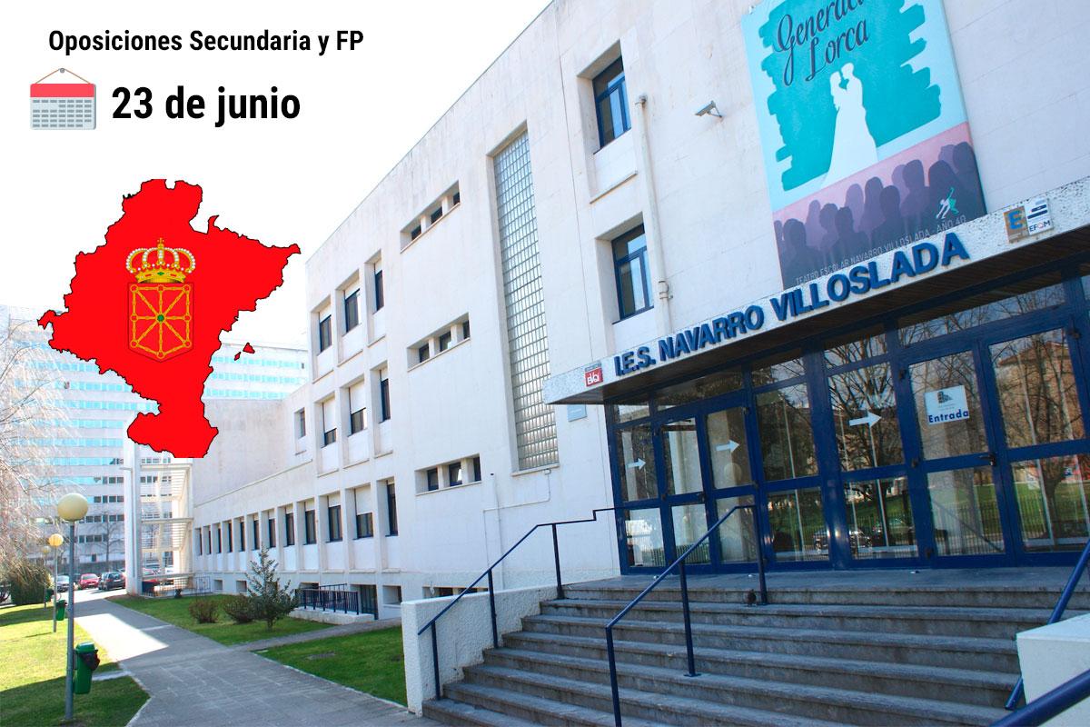 La primera prueba de las oposiciones de Secundaria y FP comienza el 23 de junio en Navarra