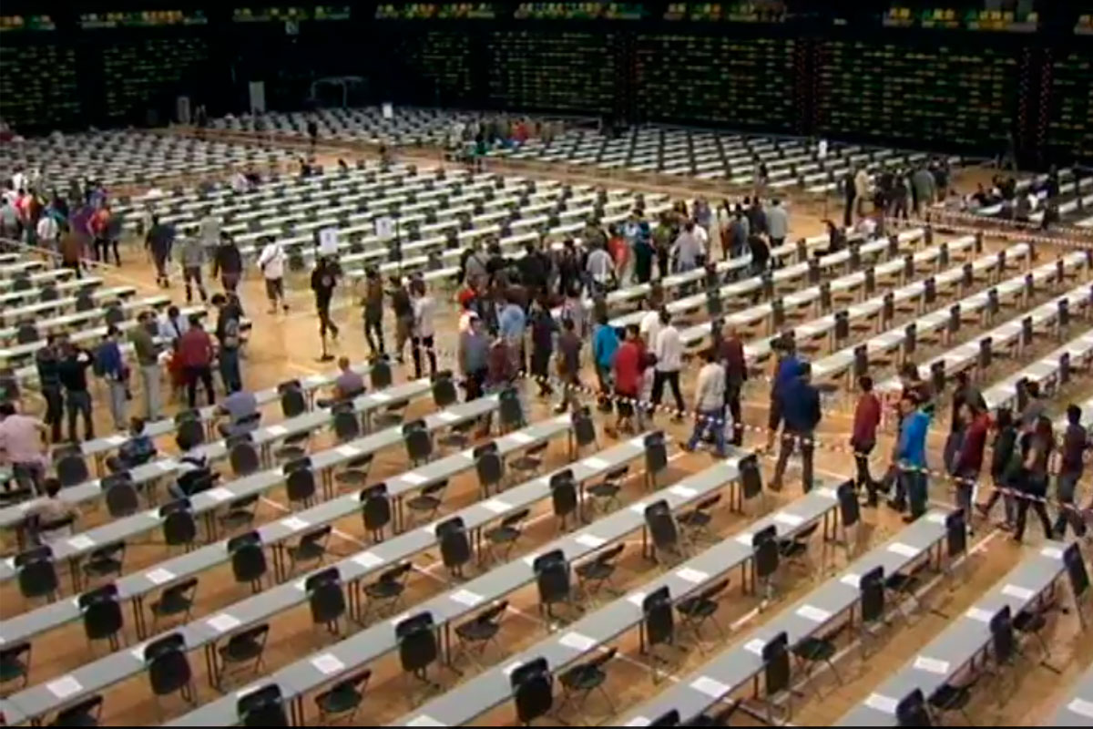 300.00 aspirantes comenzaron las Macro oposiciones este sábado