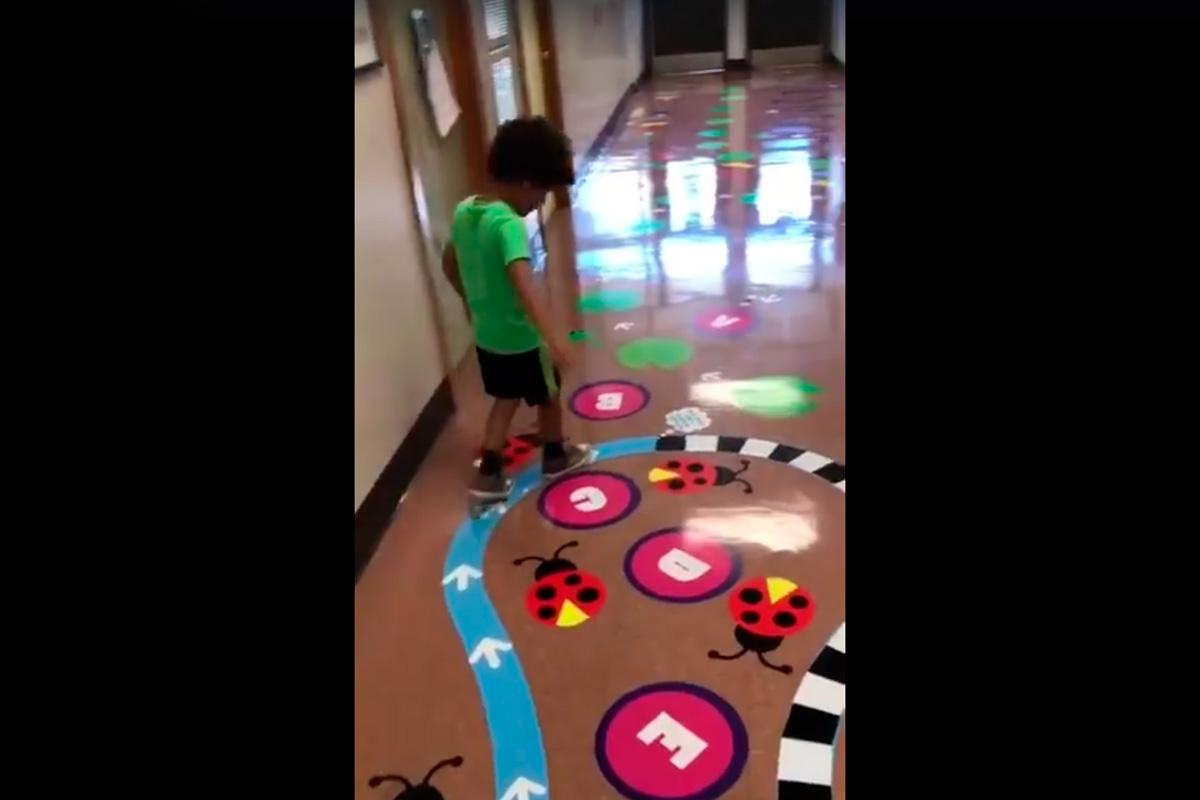 Camino Sensorial para ayudar a los niños a tranquilizarse