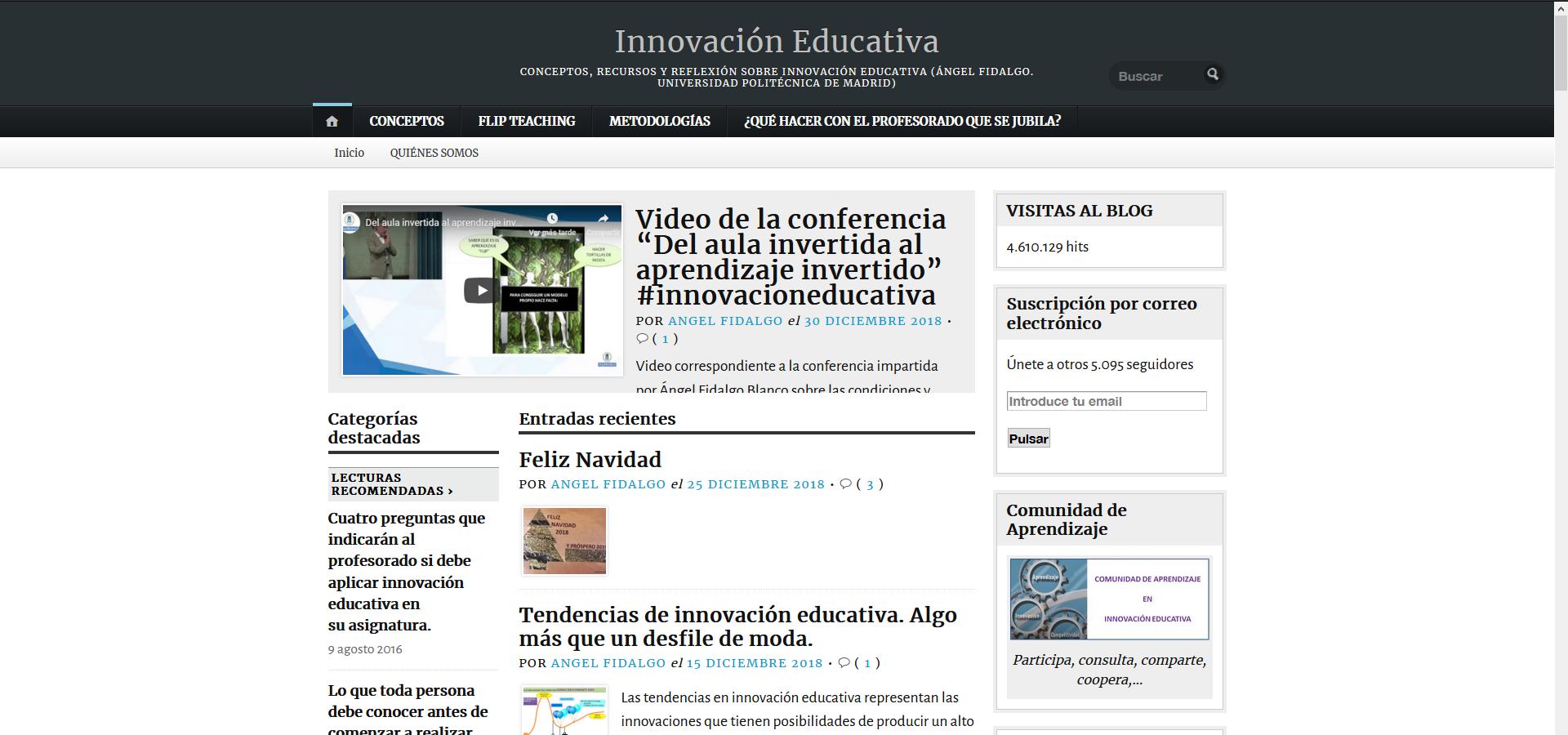 Blog: Innovación educativa