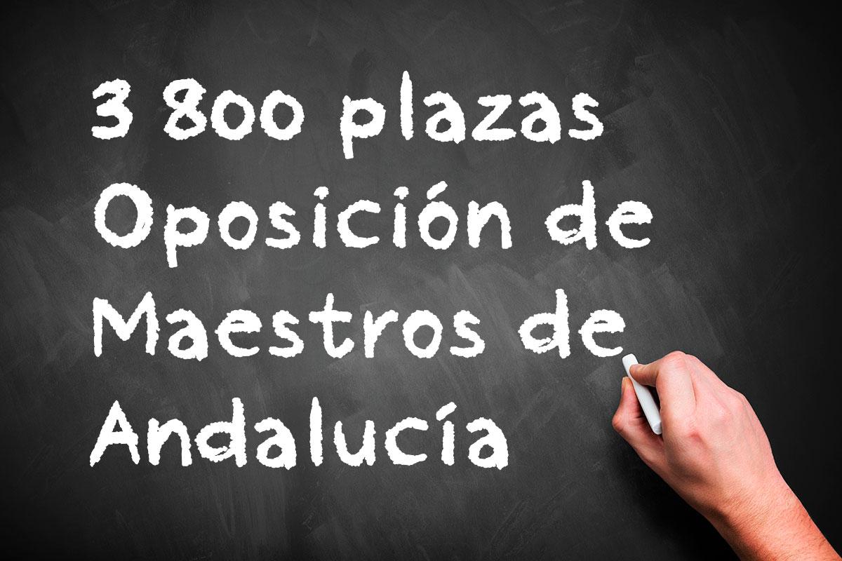 3.800 plazas en la Oposición de Maestros de Andalucía