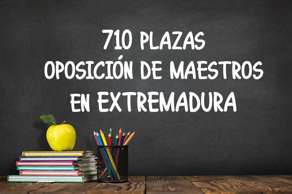 710 plazas Oposición de maestros en Extremadura
