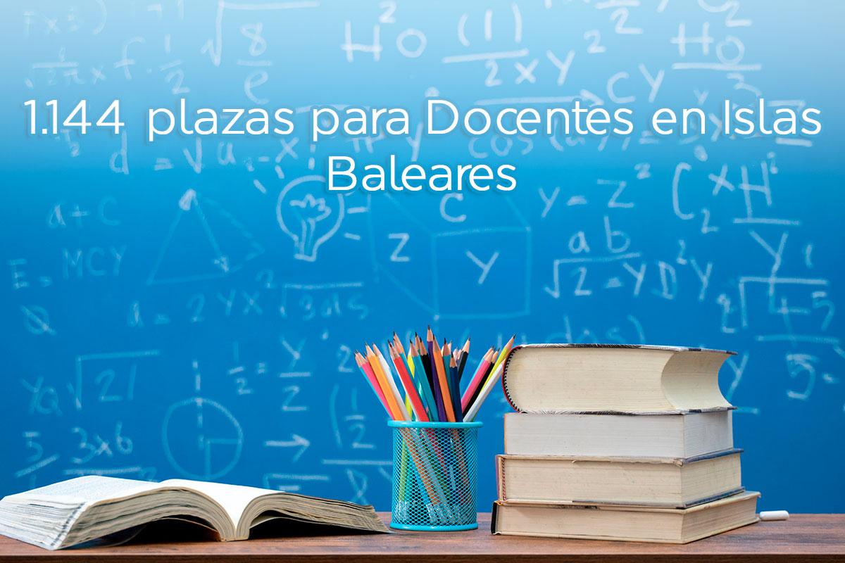 1.144 plazas en la OPE de Docencia de Islas Baleares