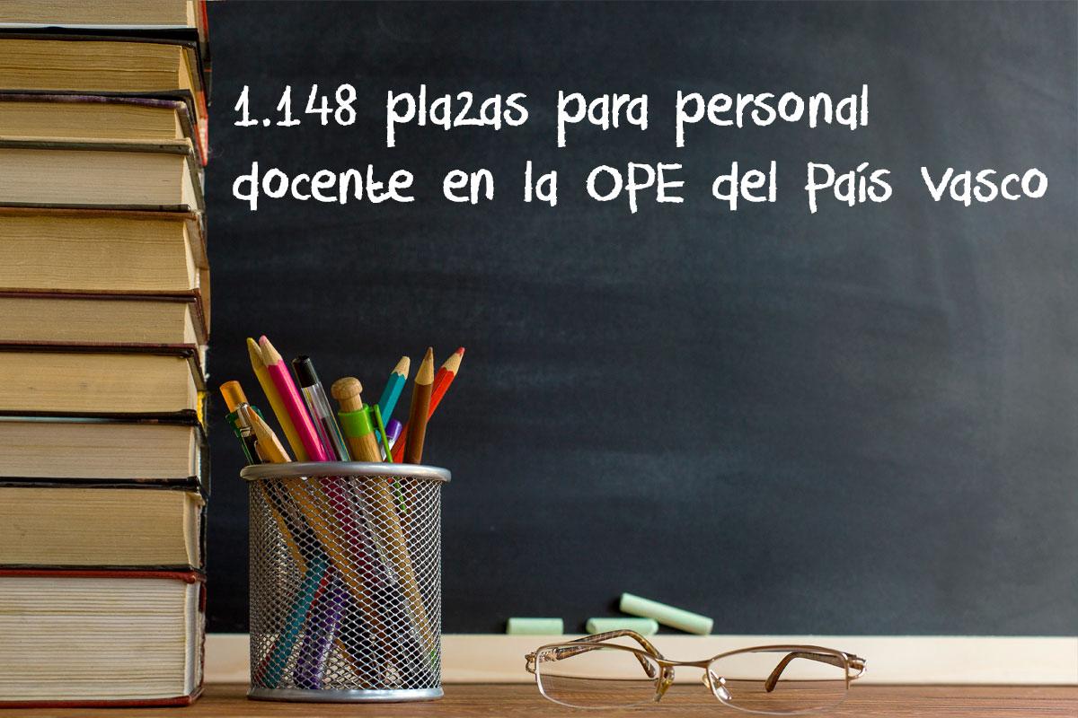 1.148 plazas para personal docente en la OPE del País Vasco