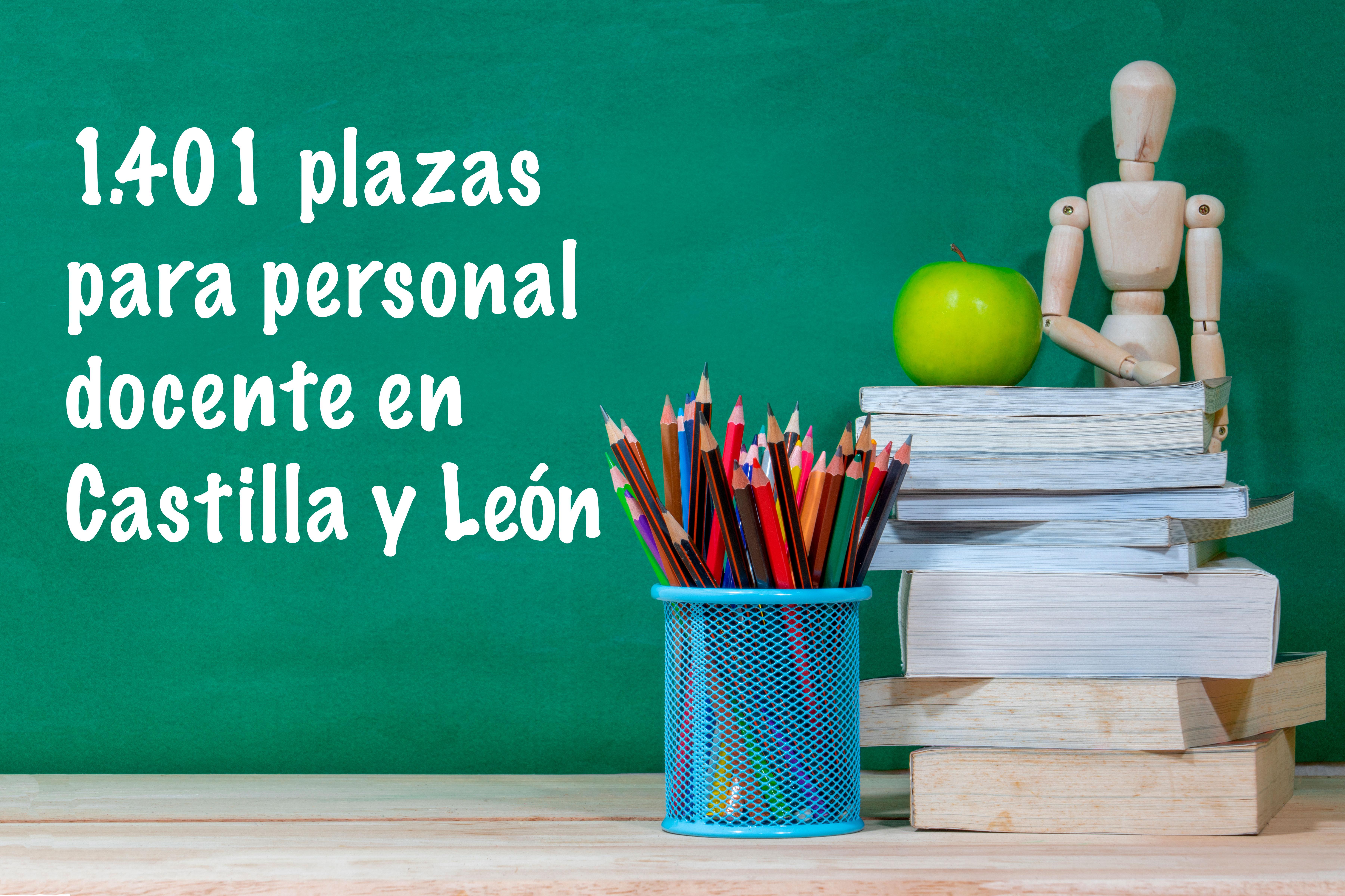 1.401 plazas para personal docente en Castilla y León