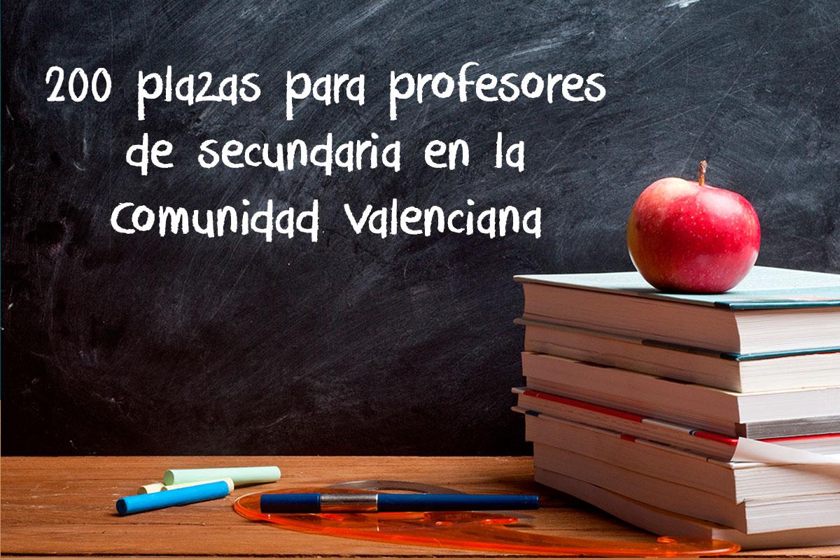 200 plazas para docentes en la OPE de la Comunidad Valenciana