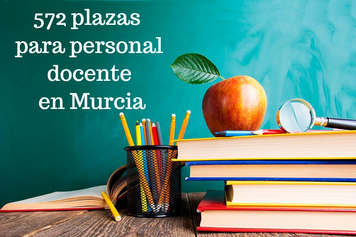 572 plazas para personal docente en Murcia