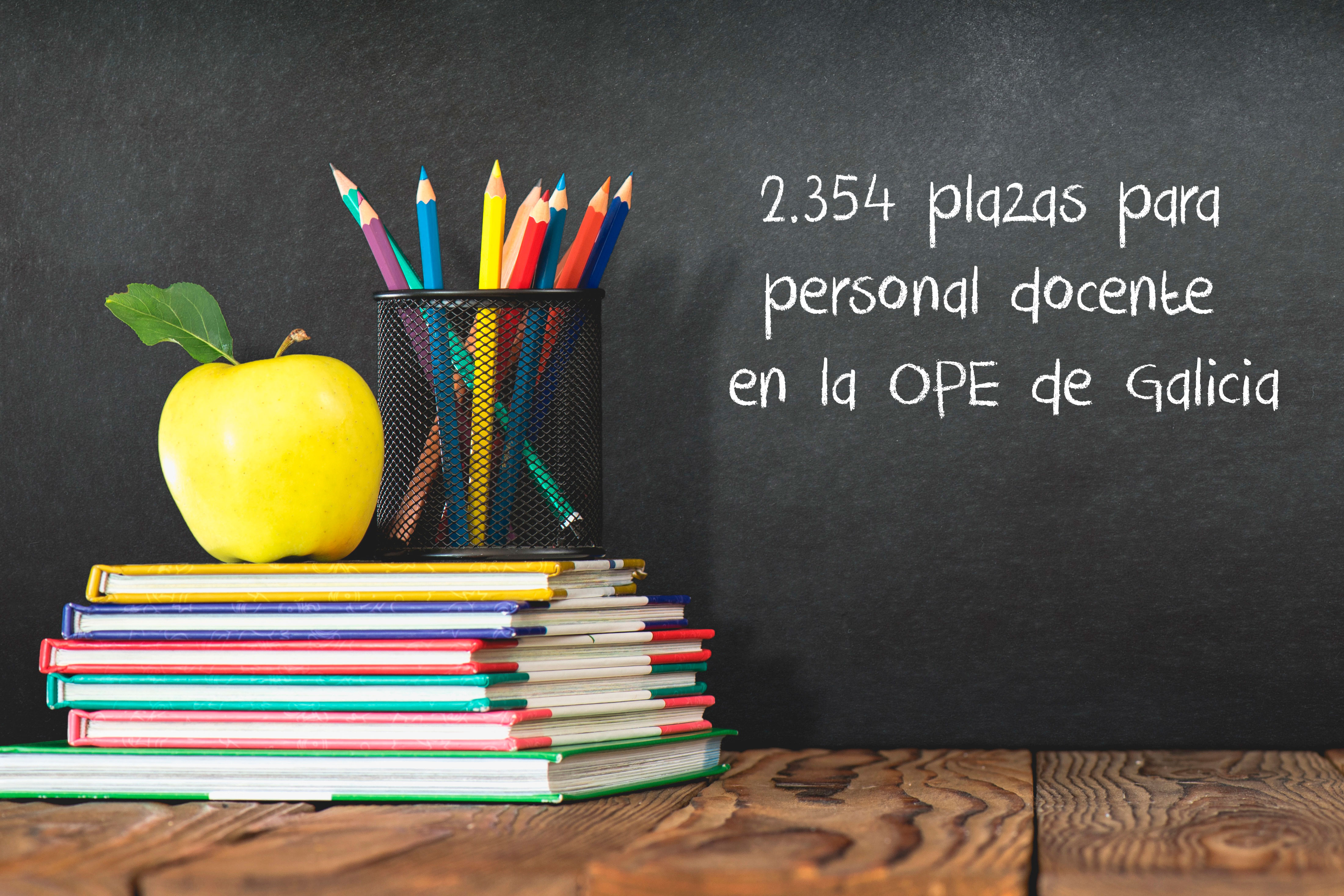 2.354 plazas para personal docente en la OPE de Galicia