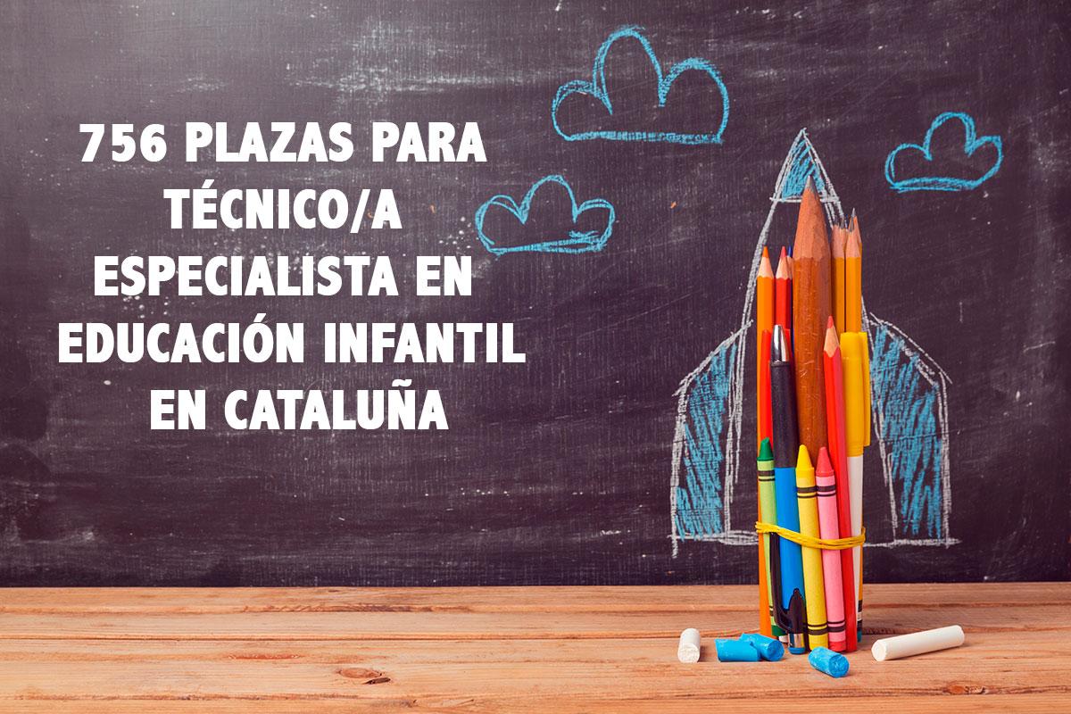 756 plazas para técnico/a especialista en educación infantil en Cataluña