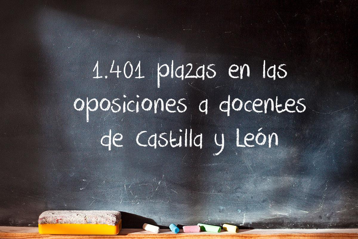 1.401 plazas en las oposiciones a docentes de Castilla y León