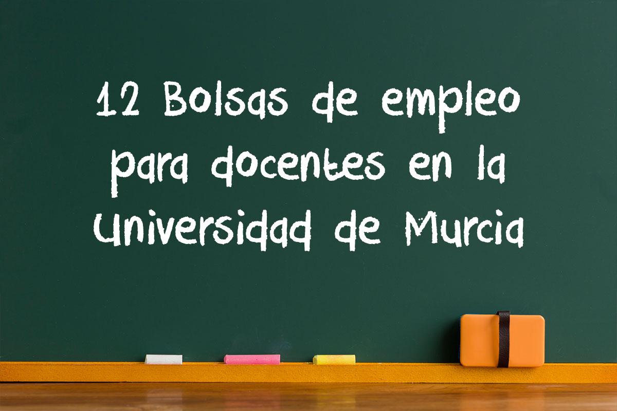 12 Bolsas de empleo para docentes en la Universidad de Murcia