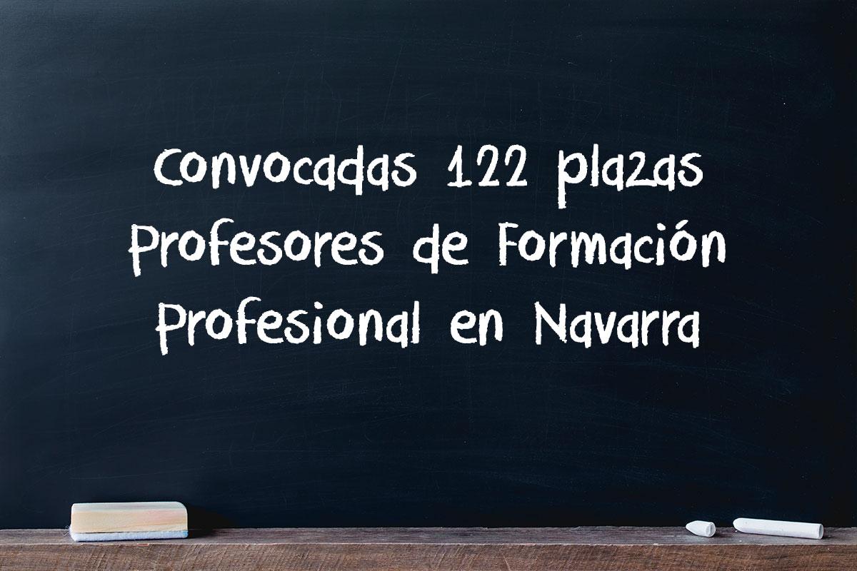 Convocadas 122 plazas Profesores de Formación Profesional en Navarra