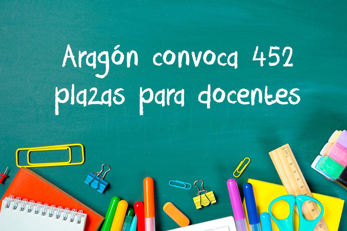Aragón convoca 452 plazas para docentes