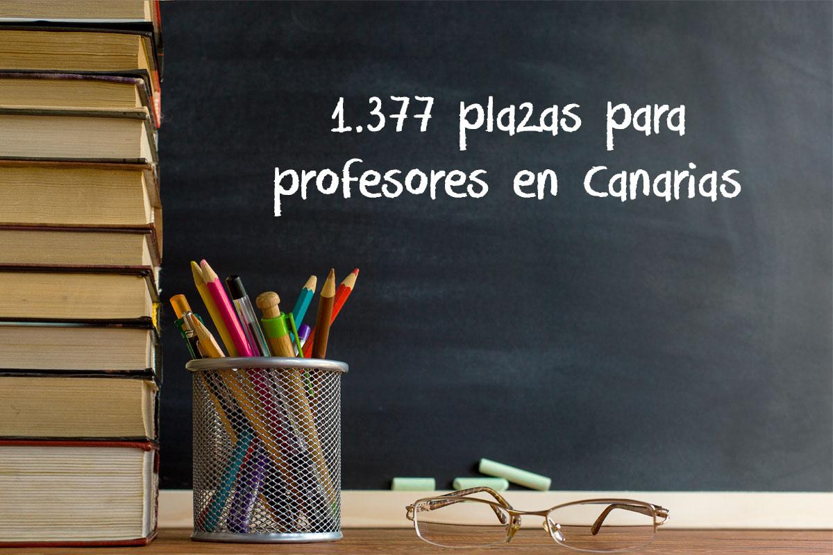 1.377 plazas para profesores en Canarias